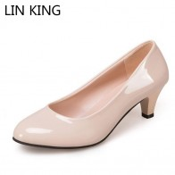 € 4.69 51% de DESCUENTO|LIN rey maduro de cuero de las mujeres, resbalón en superficial de alta zapatos de tacón Zapatos de ocio señoras vestido de oficina mamá bombas Plus tamaño tamaño 42-in Zapatos de tacón de mujer from zapatos on Aliexpress.com | Alibaba Group