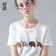 641.06 руб. 65% СКИДКА|Toyouth забавная Футболка с принтом слона женские летние футболки с коротким рукавом с животными Harajuku футболки для женщин белые повседневные топы с круглым вырезом-in Футболки from Женская одежда on Aliexpress.com | Alibaba Group