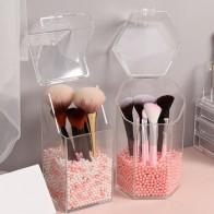 Жемчужный прозрачный акриловый косметический Органайзер для макияжа, контейнер для хранения, держатель для губной помады, контейнер для хр...