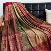 Cotton Woven Sofa Bed Throw Blankets Bedspread Settee Covers Rugs Non-slip Pads Carpets Sofa Covers - For home