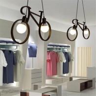 Ретро подвесной светильник, креативный Железный велосипедный подвесной светильник для гостиной, простой ресторанный бар, промышленные кух... - Красивое освещение с Али