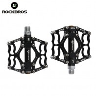 "ROCKBROS Mountain Bike Bicycle Pedal MTB Road Bike Ultralight Pedals Aluminum Alloy Axle 9/16"" Cycling Seald Bearing BMX Pedal"