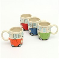 US $8.85 34% OFF|400ml Creative Hand Painting Double Bus Mugs Retro Ceramic Cup Coffee Milk Tea Mug Drinkware Novetly Gifts-in Mugs from Home & Garden on Aliexpress.com | Alibaba Group