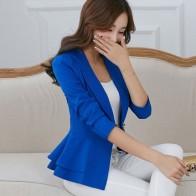 1289.31 руб. 32% СКИДКА|PEONFLY женские блейзеры и куртки весна осень модный, застегивающийся на одну пуговицу Блейзер Femenino Дамский Блейзер Женский размер S 3XL-in Пиджаки from Женская одежда on Aliexpress.com | Alibaba Group