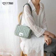 US $62.99 44% OFF|VENOF Korean version split leather shoulder bag for woman fashion ladies chain flap luxury exquisite female crossbody bags 2019-in Shoulder Bags from Luggage & Bags on Aliexpress.com | Alibaba Group