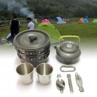 409.14руб. 39% СКИДКА|1 12 шт., Открытый походный чайник для пикника, набор чайной сковороды, алюминиевый карабин, кухонная посуда, горшок, походная посуда-in Столовые приборы для пикника from Спорт и развлечения on AliExpress - 11.11_Double 11_Singles' Day - На случай зомби-апокалипсиса