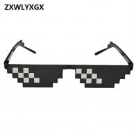 196.29руб. |ZXWLYXGX очки 8 бит MLG Pixelated солнцезащитные очки для мужчин и женщин бренд Thug Life очки для вечеринки мозаика винтажные очки-in Мужские солнцезащитные очки from Аксессуары для одежды on AliExpress