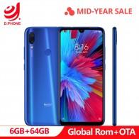 13986.38 руб. |Официальная глобальная ПЗУ Xiaomi Redmi Note 7 6 ГБ ОЗУ 64 Гб ПЗУ Snapdragon 660 Восьмиядерный 6,3
