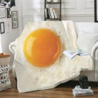 Еда яйцо 3D печать плюшевое Флисовое одеяло для взрослых Модные одеяла для дома и офиса моющиеся одеяла повседневное детское одеяло для дево...