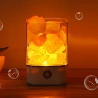 1005.71 руб. 31% СКИДКА|USB Crystal Light натуральный Гималайский соль настольная лампа Led спальня лавовые лампы очиститель воздуха настроение создатель теплый стол ночные светильники-in Ночники from Лампы и освещение on Aliexpress.com | Alibaba Group