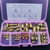 Саморез из углеродистой стали, набор для ремонта резьбы 70 шт./лот м2, м2.5м3, М4, М5, М6, М8 - Втулка резьбовая на Алиэкспресс