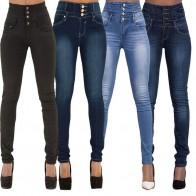 798.71 руб. 28% СКИДКА|LASPERAL 2019 осень зима Для женщин бренд узкие джинсовые узкие брюки Высокая талия тонкая на кнопках карманы брюки стрейч женские джинсы-in Джинсы from Женская одежда on Aliexpress.com | Alibaba Group