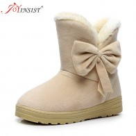 US $9.17 49% OFF|2018 Winter New Women Snow Boots Solid Bowtie Slip On Soft Cute Women Boots Round Toe Flat with Winter Shoes-in Ankle Boots from Shoes on Aliexpress.com | Alibaba Group