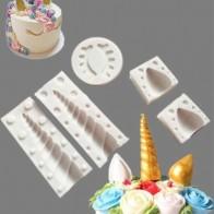 Molde de unicornio de silicona 5 piezas