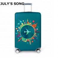 541.73 руб. 29% СКИДКА|Толстый Дорожный чемодан защитный чехол на чемодан чехол для путешествий Аксессуары Эластичный багажный пылезащитный чехол для чемодана 18