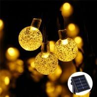 748.98 руб. 50% СКИДКА|Новый м 50 светодио дный S 10 м хрустальный шар Солнечная лампа светодио дный мощность светодиодные гирлянды сказочные огни солнечные гирлянды сад Рождественский Декор для наружного купить на AliExpress