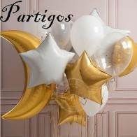 US $4.38 20% OFF 19pcs/lot 36inch Gold large Moon Foil Balloons Gold White Star 2.8g Transparent Balloon Birthday Party Decor supplies Kids Toys-in Ballons & Accessories from Home & Garden on Aliexpress.com   Alibaba Group