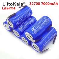 2019 LiitoKala 3.2 V 32700 7000 mAh High Power Battery 6500 mAh LiFePO4 35A 55A Continuous Battery Discharge + Nickel Sheets