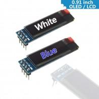 84.16 руб. 5% СКИДКА|0,91 дюймов 128x32 IIC I2C белый/синий OLED ЖК дисплей DIY модуль SSD1306 Драйвер IC DC 3,3 V 5 V для arduino-in ЖК-модули from Электронные компоненты и принадлежности on Aliexpress.com | Alibaba Group
