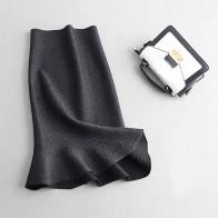 1763.0 руб. 20% СКИДКА|2018 осенние женские вязаные длинные юбки с высокой талией сексуальные облегающие Женские Юбки Русалки Saia Faldas женские сексуальные юбки купить на AliExpress