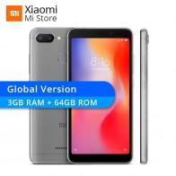 8079.16 руб. |Глобальная версия Xiaomi Redmi 6 3 GB Оперативная память 64 Гб Встроенная память телефона Redmi6 Helio P22 Octa Core 5,45