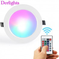 US $5.55 |RGB LED ضوء السقف مصباح AC85 265V تغيير لون RGB ماجيك مصباح ليد الضوء + IR التحكم عن بعد-في أضواء لوحة LED من مصابيح وإضاءات على Aliexpress.com | مجموعة Alibaba