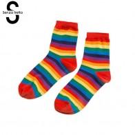 117.91 руб. 30% СКИДКА|Модные хлопковые носки сладкое мороженое радужные цветные носки для женщин девочек весна лето осень хлопок полосатые носки NYY5940 купить на AliExpress