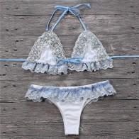 € 14.03 |Dulce playa Bikini Push up SEXY de encaje flor Bikinis mujeres Bowknot cintura baja piscina de verano Mujer Bikini traje de baño-in Conjunto de bikini from Deportes y entretenimiento on Aliexpress.com | Alibaba Group