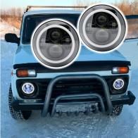 3251.05 руб. 16% СКИДКА|DOT утвержден 2X7 дюймов светодиодные фары черный W/Angel Eye Hi/Lo луч Янтарный указатель поворота Белый Halo Кольцо DRL для Lada 4x4 urban Niva-in Фара для авто в сборе from Автомобили и мотоциклы on Aliexpress.com | Alibaba Group