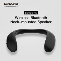 Bluedio HS bluetooth neck speaker wireless speaker bluetooth 5.0 with bass FM radio SD card slot with microphone for game