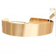 494.1 руб. 31% СКИДКА|Модные женские туфли Украшенные золото полная металлическая пластина металлик зеркало Оби поясной корсет с цепочкой украшения купить на AliExpress