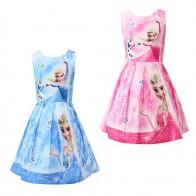 € 8.88 50% de réduction|Été bébé filles Anna Elsa robe de princesse Costume de cosplay dessin animé enfants robes pour filles Halloween elsa robe de fête d