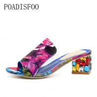 723.84 руб. 28% СКИДКА|LTARTA/брендовые Разноцветные кристаллы на каблуке с открытым носком, большие размеры 34 41; Летняя женская обувь; женские босоножки. HYKL 818-in Женские сандалии from Туфли on Aliexpress.com | Alibaba Group