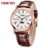 2120.87 руб. 29% СКИДКА|TIME100 Мужские Часы кварцевые водонепроницаемые часы Авто Дата солнце фаза кожаный ремешок Бизнес наручные часы из нержавеющей стали -in Повседневные часы from Ручные часы on Aliexpress.com | Alibaba Group