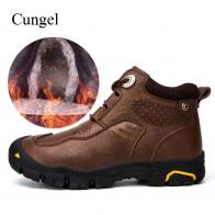 2667.94 руб. 20% СКИДКА|Cungel/зимняя обувь; мужские уличные ботинки для походов; теплая плюшевая обувь; кожаные ботинки; обувь для альпинизма-in Походная обувь from Спорт и развлечения on Aliexpress.com | Alibaba Group