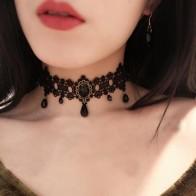 € 0.69 49% de réduction|2017 mode gothique victorien cristal gland tatouage collier ras du cou en dentelle noire collier ras du cou Vintage femmes bijoux de mariage-in Ras du cou from Bijoux et Accessoires on Aliexpress.com | Alibaba Group