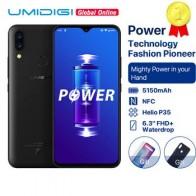 UMIDIGI Power 5150 мАч 18 Вт Быстрая зарядка Android 9,0 4 Гб 64 Гб 6,3 дюйма FHD + Глобальная версия смартфона Dual Helio P35 2.3GH Dual 4G 16MP