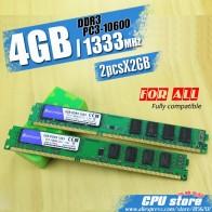 574.34 руб. |Новый 4 Гб (2 шт. X2GB) DDR3 PC3 10600 1333 МГц для настольных ПК dimm память ram 240 контакты (для intel amd) Системы Высокая совместимость-in ОЗУ from Компьютер и офис on Aliexpress.com | Alibaba Group