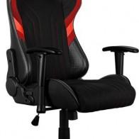 Кресло игровое AEROCOOL AERO 1 Alpha BR, черный/красный
