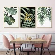 Изображение зеленых растений, домашний художественный принт, растительный холст, Настенная картина, постер для домашнего декора стен HD2695 - Тропический принт