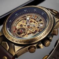 1045.6 руб. 56% СКИДКА|Механические Мужские автоматические часы мужские часы с скелетом бронзовые кожаные стимпанк прозрачные винтажные спортивные наручные часы мужские-in Механические часы from Ручные часы on Aliexpress.com | Alibaba Group