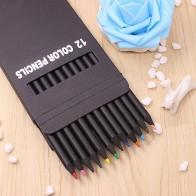 235.49 руб. |12 шт./компл. ценный цветной карандаш упаковка 12 разных цветов цветные карандаши Kawaii School черные деревянные карандаши высокое качество on Aliexpress.com | Alibaba Group