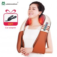 US $32.12 27% OFF|(with Gift Box)JinKaiRui U Shape Electrical Shiatsu Back Neck Shoulder Body Massager Infrared Heated Kneading Car/Home Massagem-in Massage & Relaxation from Beauty & Health on Aliexpress.com | Alibaba Group