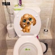 75.86 руб. 40% СКИДКА|YOJA 18,3*20,3 см ручная роспись милый мультфильм коричневая собака детская комната стены Туалет наклейки на сиденья наклейки T1 0310-in Настенные наклейки from Дом и сад on Aliexpress.com | Alibaba Group