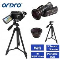 7099.59 руб. 46% СКИДКА|ORDRO HDV D395 портативные камеры регистраторы Ночное видение Full HD 1080p 18X3,0