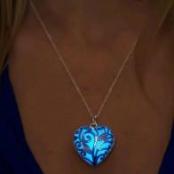 111.09 руб. 50% СКИДКА|FAMSHIN светящийся серебряный полый светящийся камень кулон ожерелье заявление Chocker Подвески ожерелье для женщин Хэллоуин подарки 2018 купить на AliExpress