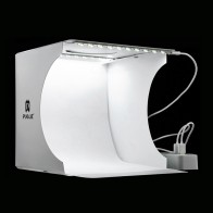 828.03 руб. 50% СКИДКА|Мини складной лайтбокс фотография фото студия софтбокс 2 панели светодиодный софтбокс фото Комплект для фона световой короб для DSLR камеры купить на AliExpress