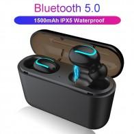 Bluetooth 5,0 наушники TWS беспроводные наушники Blutooth наушники Handsfree наушники спортивные наушники игровая гарнитура телефон PK HBQ купить на AliExpress