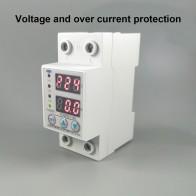 801.45 руб. 16% СКИДКА|60A 230 В din рейка Регулируемая над напряжением и под напряжением защитное устройство предохранитель реле с защитой от перегрузки по току купить на AliExpress