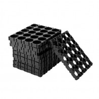 290.33 руб. 25% СКИДКА|1 шт. компл.. 10 шт. 18650 батарея 4x5 Cell Spacer излучающий в виде ракушки пакет пластик тепла держатель черный купить на AliExpress